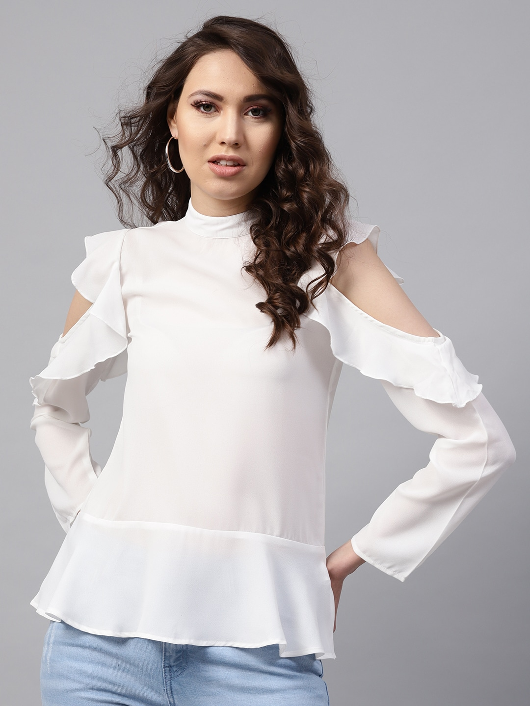 0d8f269f008 Cold Shoulder Tops - Buy Cold Shoulder Tops for Women Online - Myntra