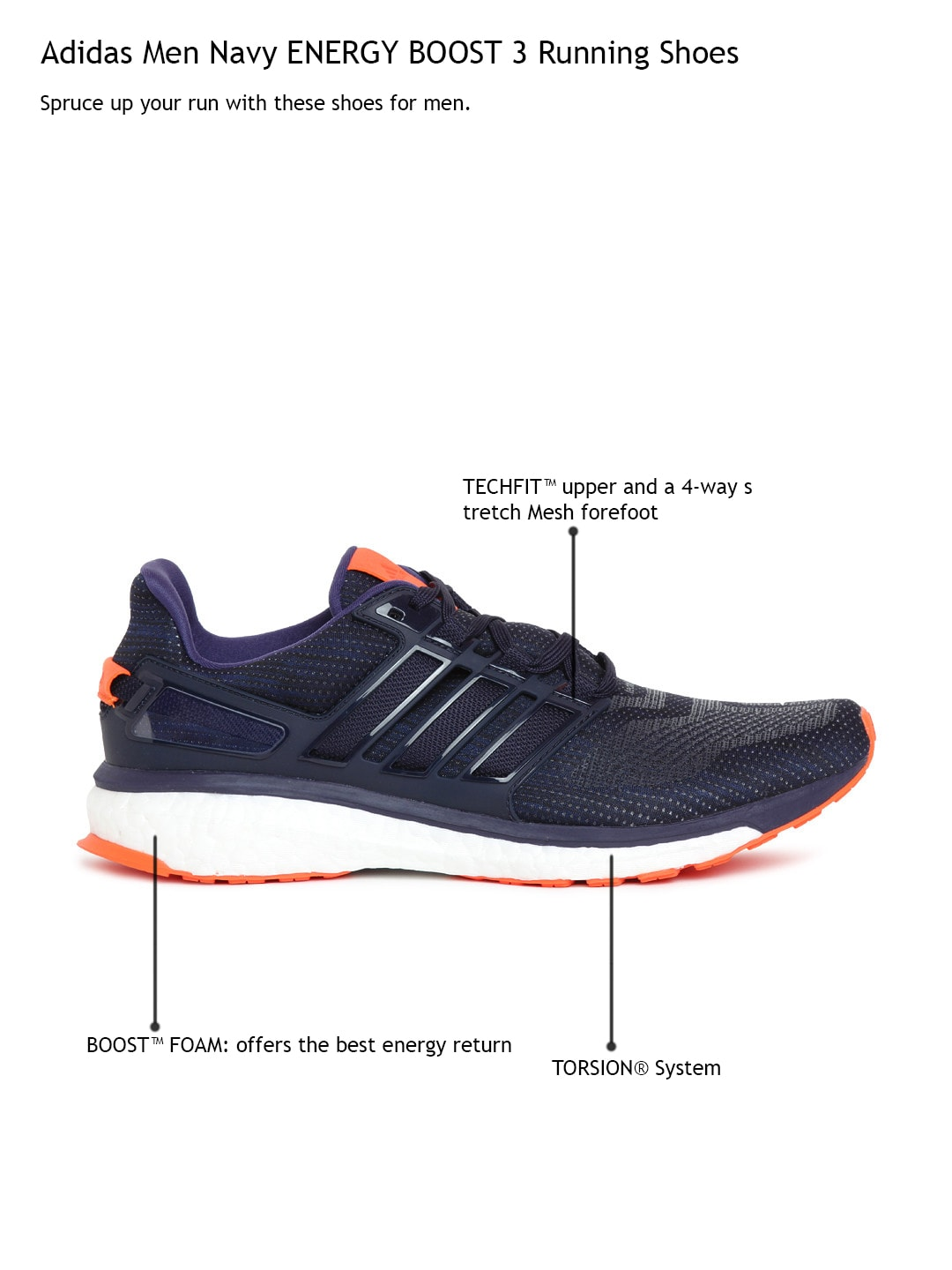 34b181d00 Mens adidas Energy Boost 3 Running Shoe FREE Shipping