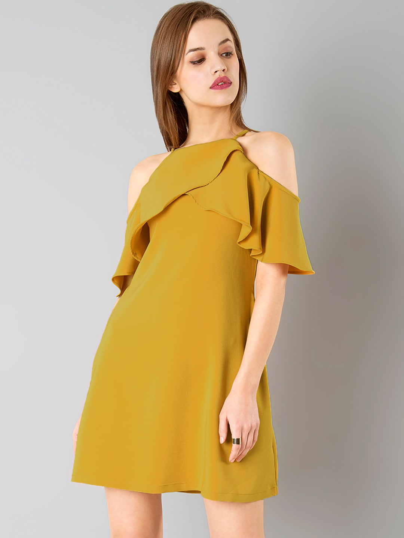 df6100e0afe Faballey Off Shoulder Dress - Buy Faballey Off Shoulder Dress online in  India