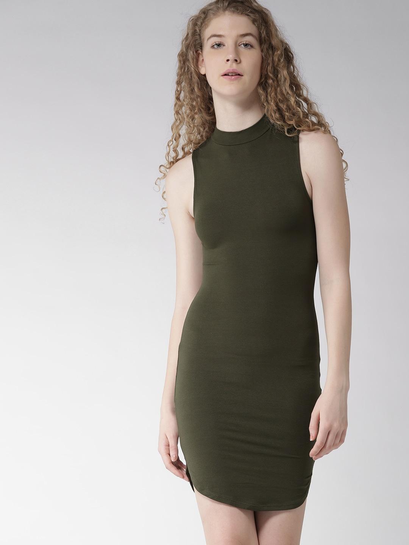 550bad6a5a Forever 21 Olive Dresses - Buy Forever 21 Olive Dresses online in India
