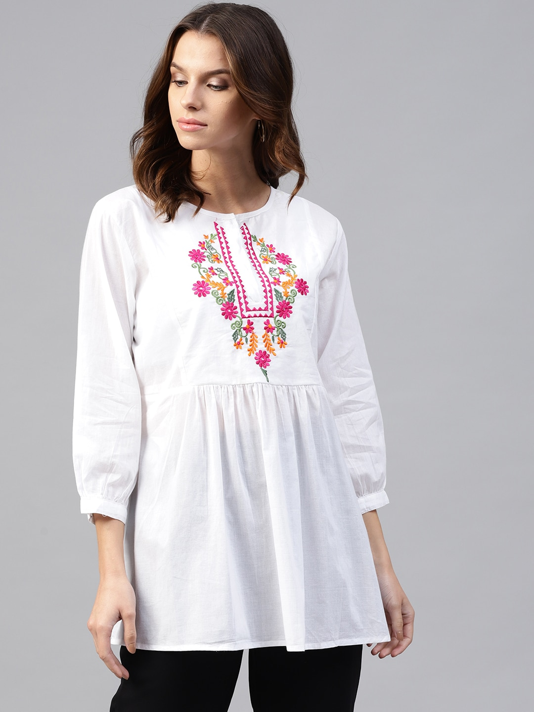 Tunics For Women Buy Tunic Tops Online In India Mom N Bab Long Pants Blue Polkadot Size 6t