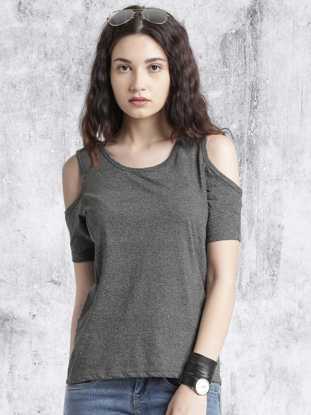 a311b378bfa7c Cold Shoulder Tops - Buy Cold Shoulder Tops for Women Online - Myntra