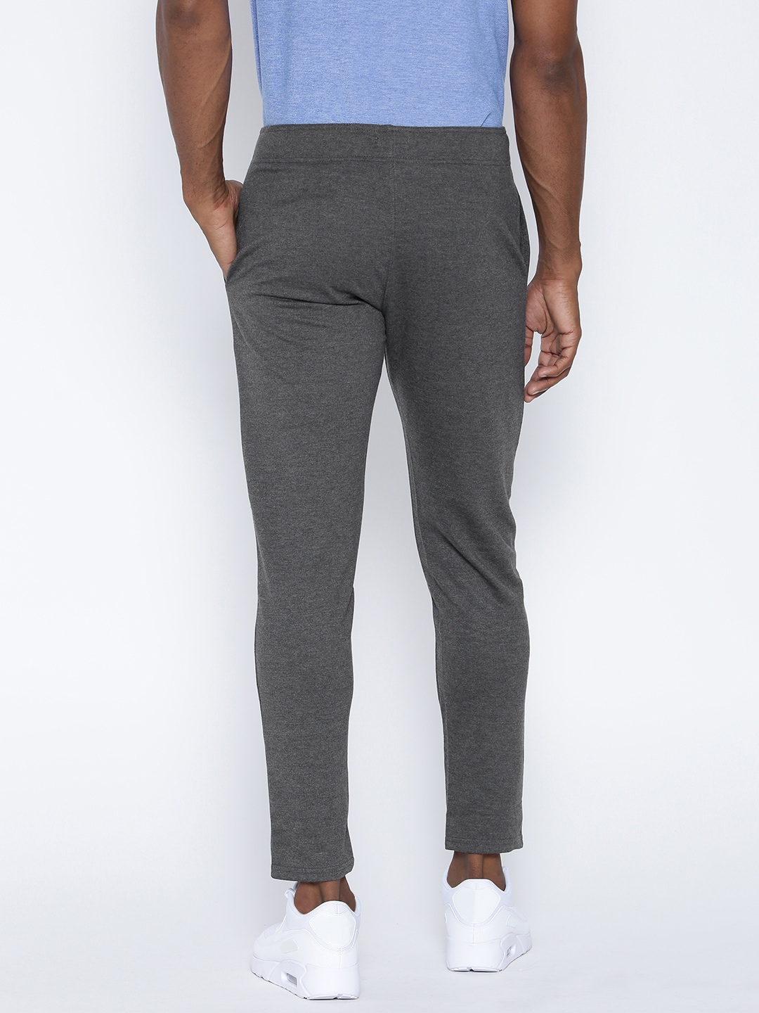 Hubberholme Charcoal Grey Slim Fit Track Pants