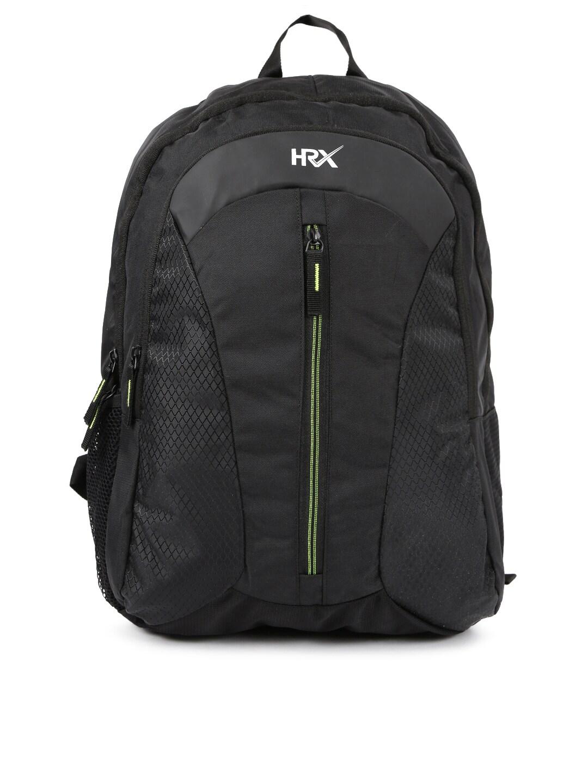 ee65e3f60d HRX by Hrithik Roshan Unisex Black Velocity Backpack
