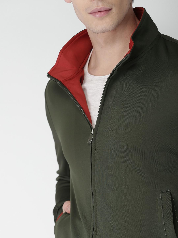Olive Green Buy Online In India Tendencies Sweater Hoody Zipper S