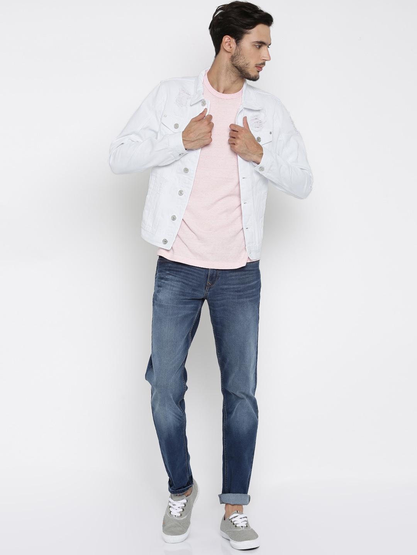 Men White Jean Jacket - Best Jacket 2017
