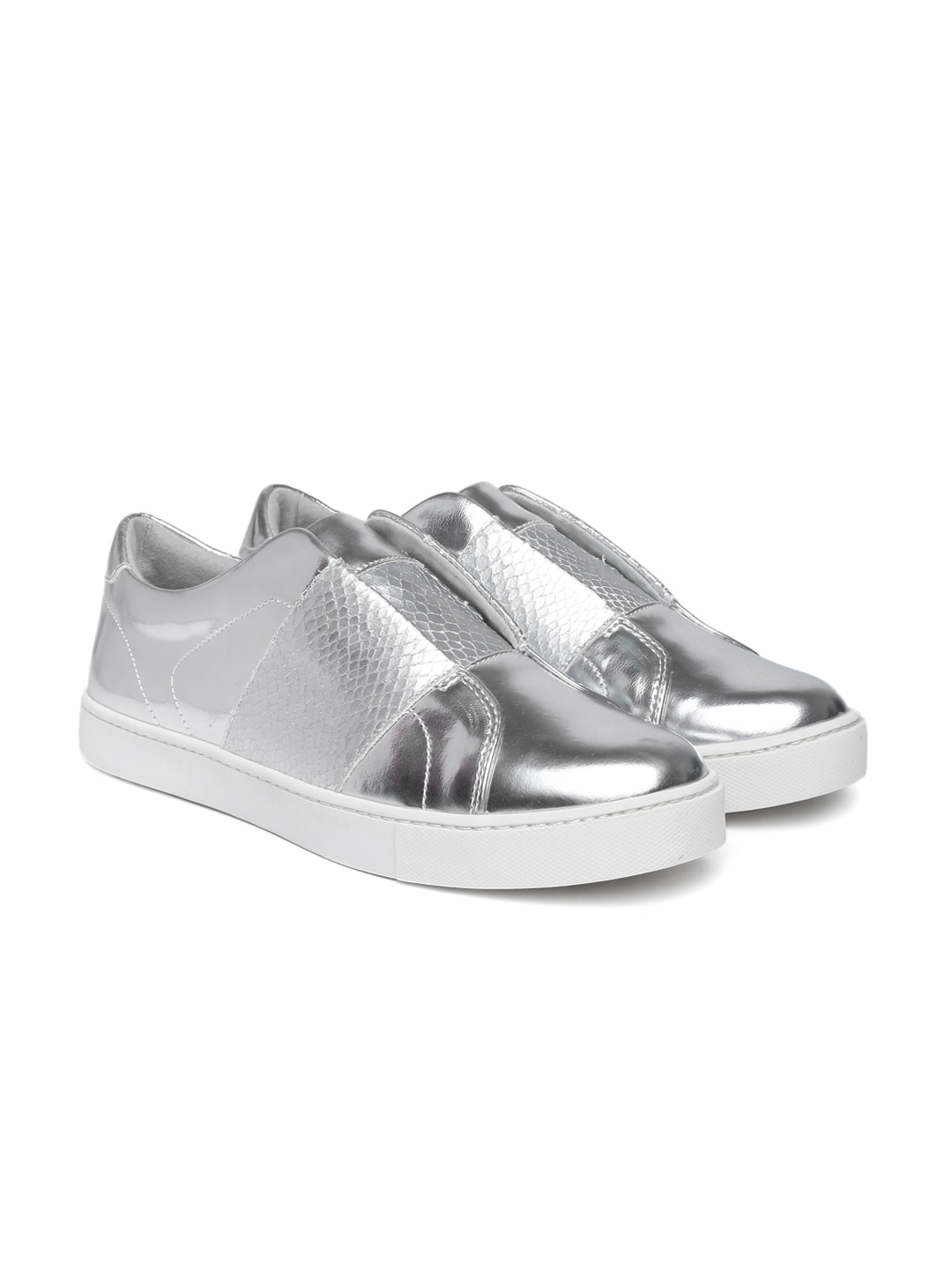 ALDO Women Silver-Toned Slip-On Sneakers