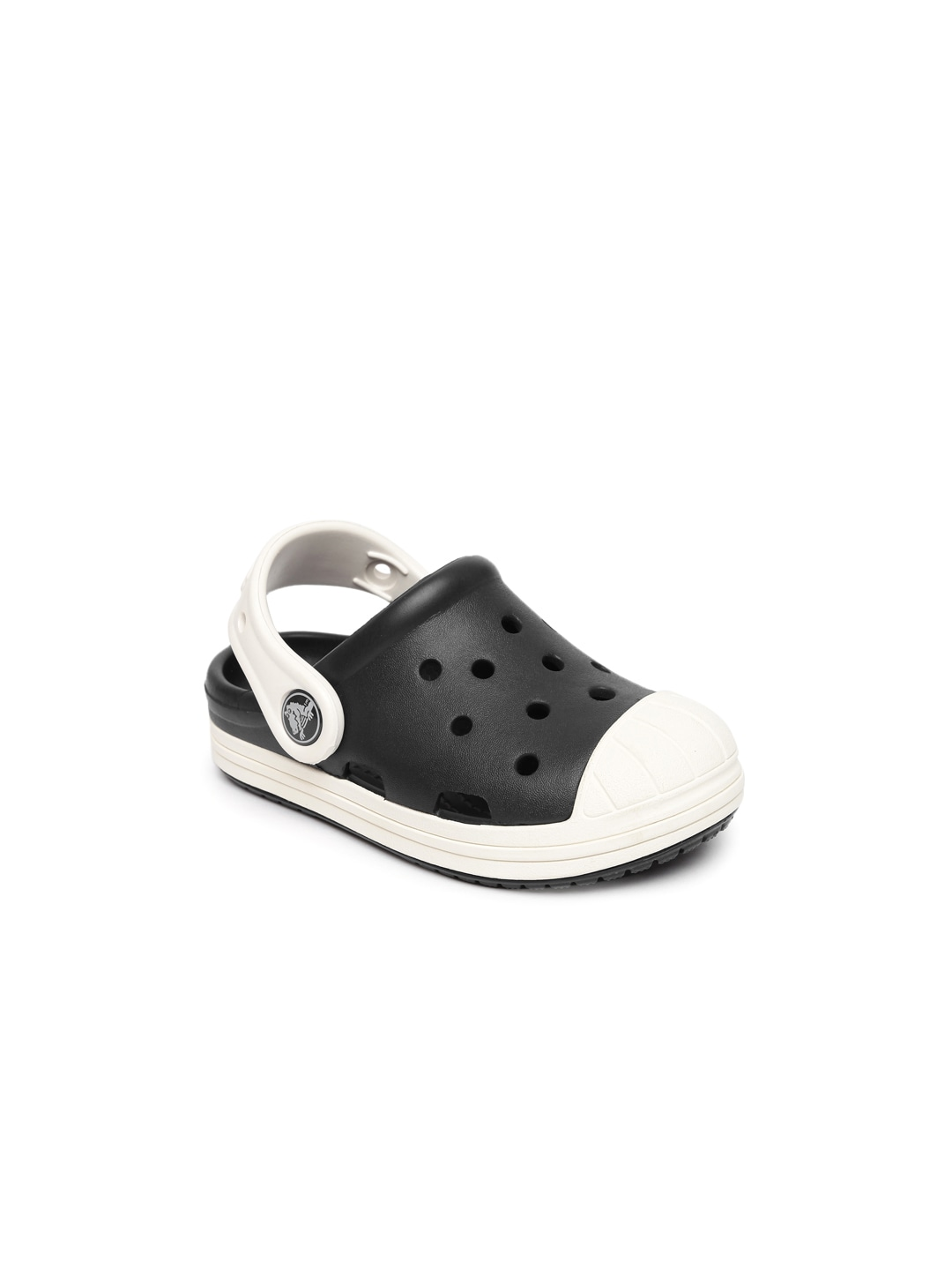 Crocs Kids Black & White Colourblocked Clogs