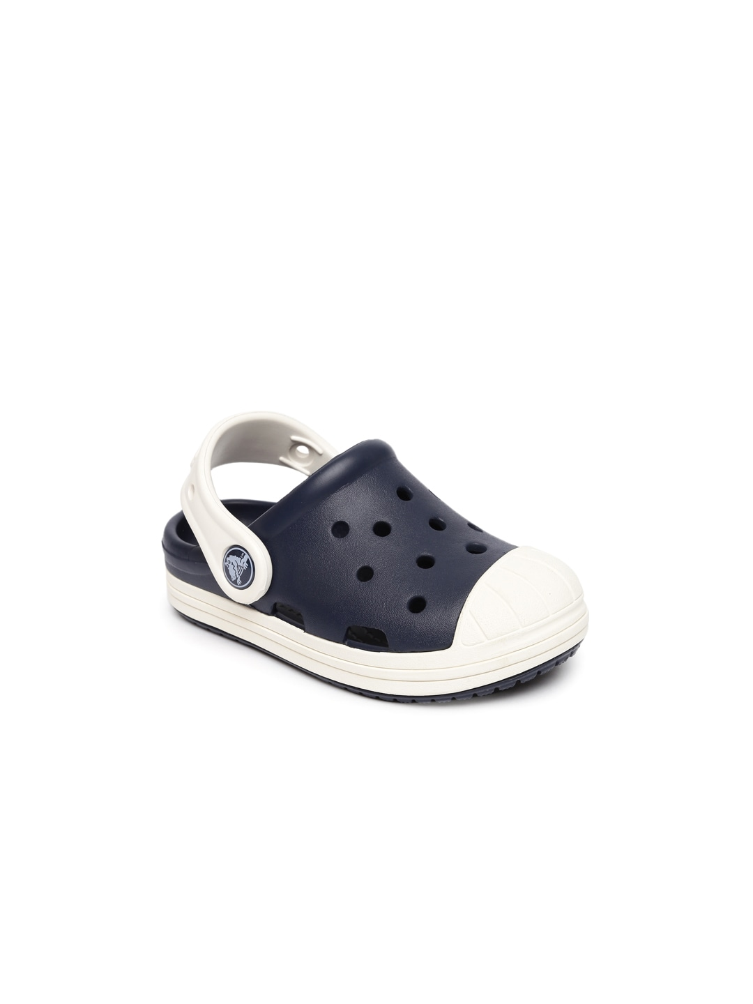 Crocs Kids Navy & White Colourblocked Clogs