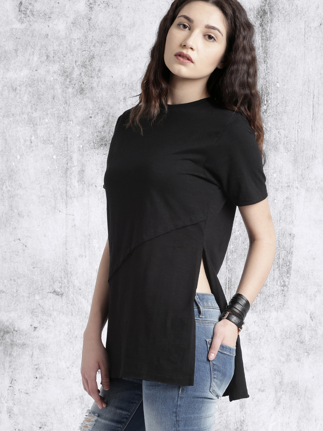 19c9aaffb9821 Black Tops - Buy Black Colour Tops Online in India