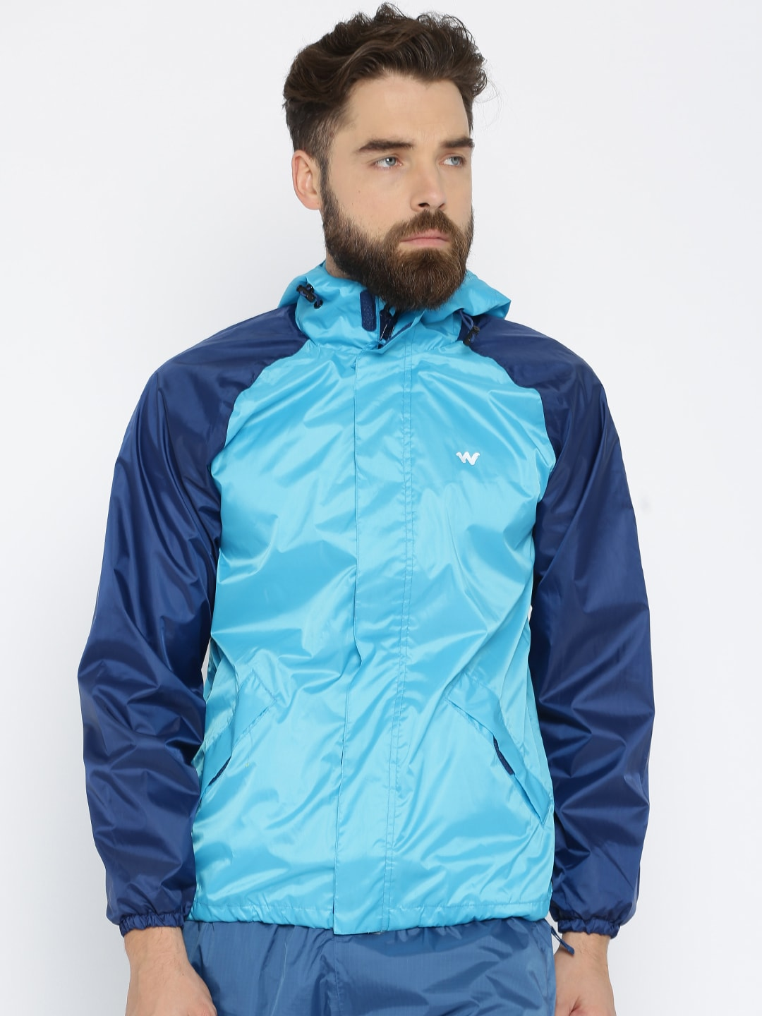 3eeba5e2f Wildcraft Blue Hooded Waterproof Rain Jacket 2 Tone