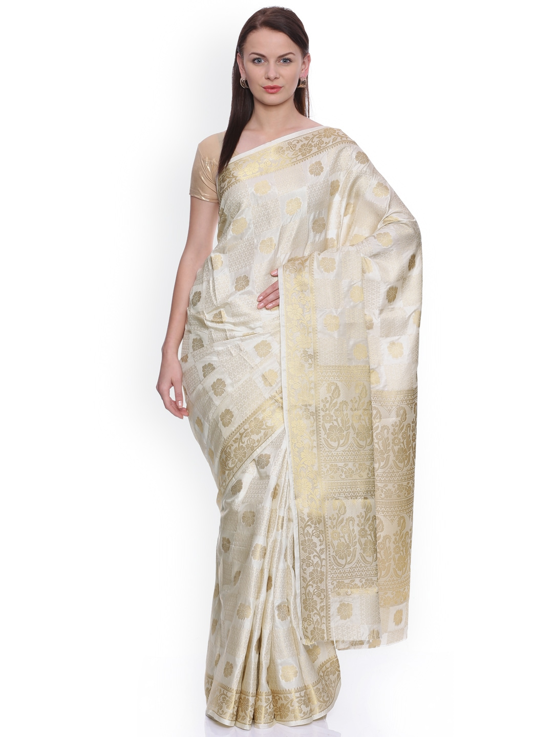 95a33503d58 Off White Saree - Buy Off White Sarees Online in India