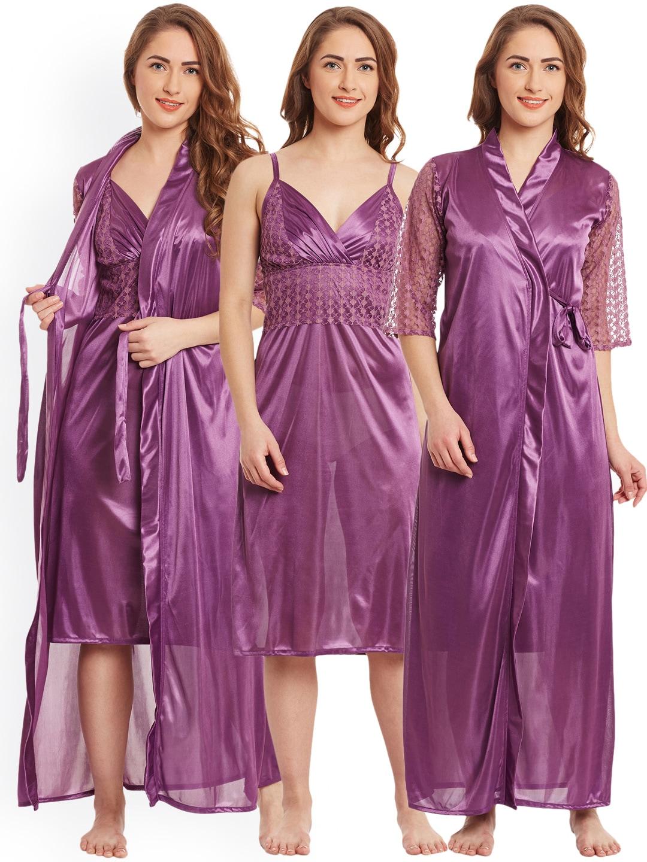 Women Purple Briefs Nightdress - Buy Women Purple Briefs Nightdress online  in India 8d228a608