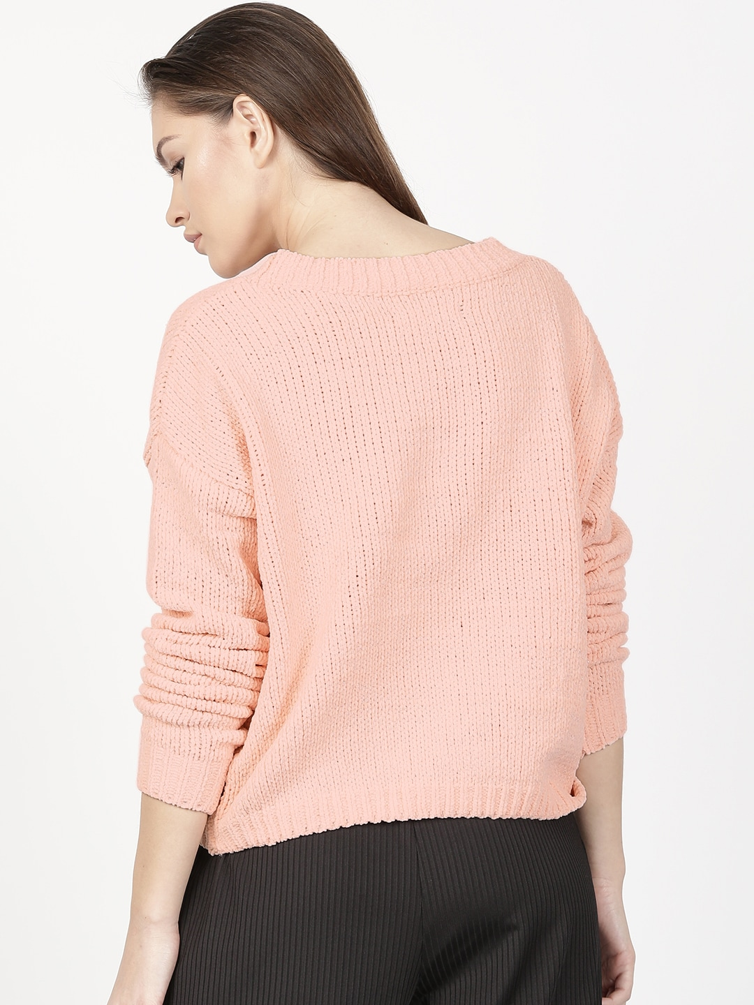 Peach Sweaters - Buy Peach Sweaters online in India
