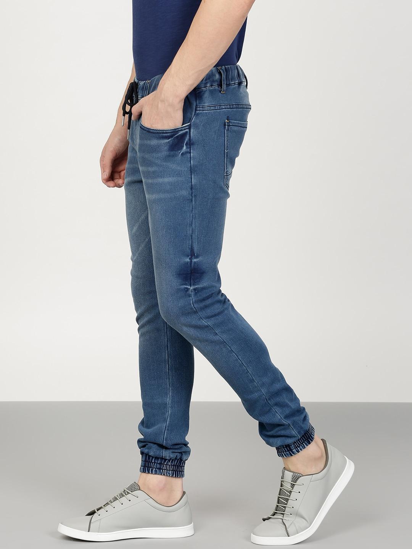 ether Men Blue Slim Fit Clean Look Joggers