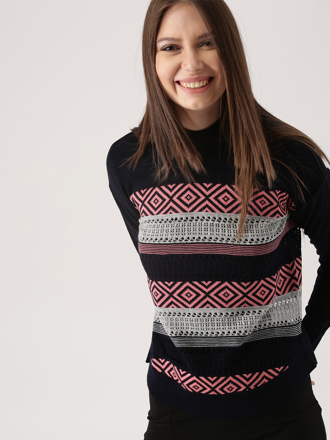 Sweaters for Women - Buy Womens Sweaters Online - Myntra ab8fe16be525