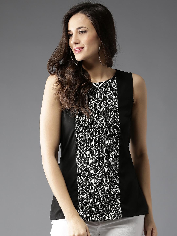 d46f58c8695a8c Women s Sleeveless Tops - Buy Sleeveless Tops For Women Online - Myntra