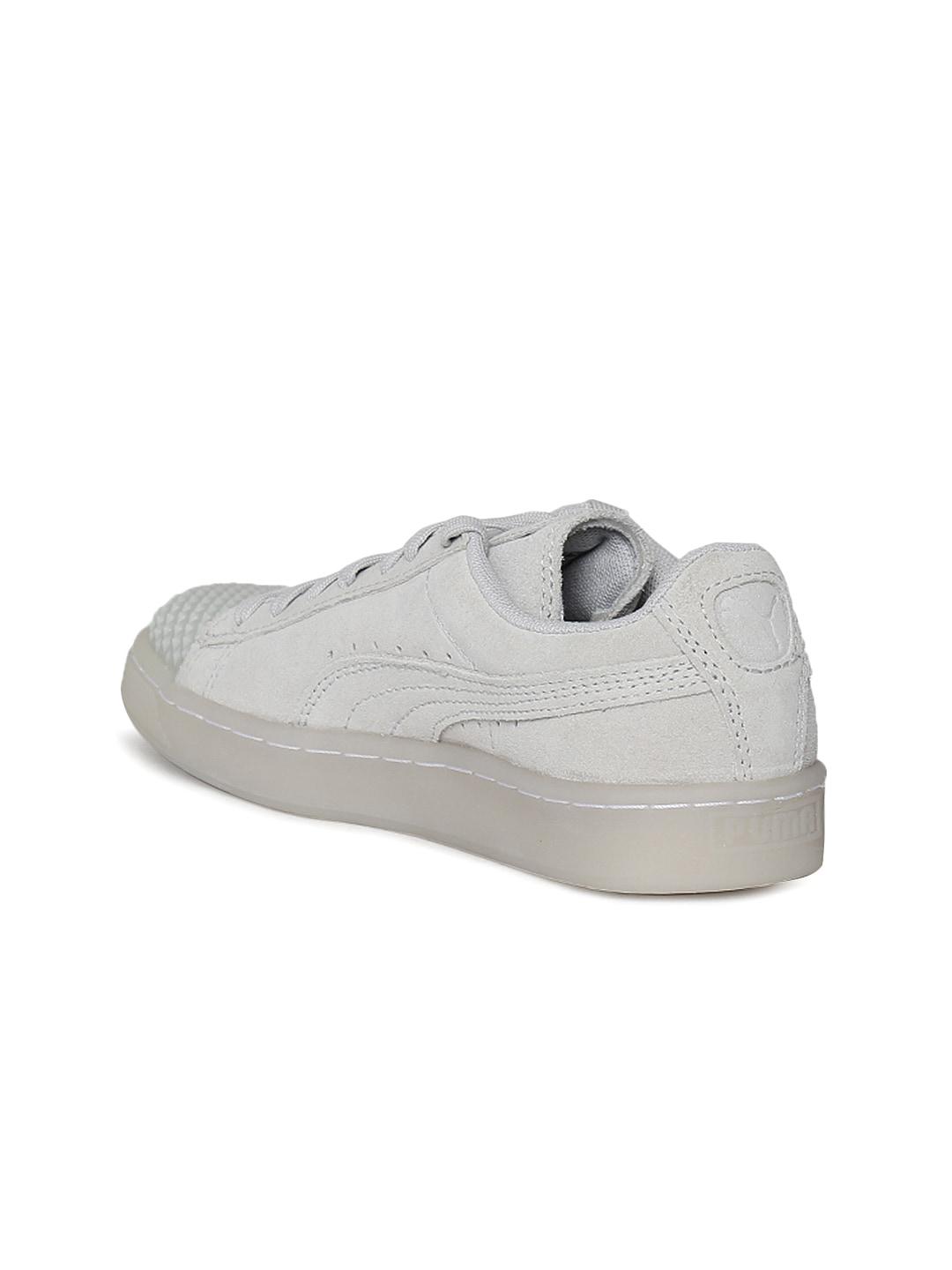 Puma Women Light Grey Suede Jelly SPORTSTYLE Sneakers