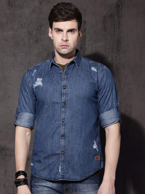 7f3c6558e3a Roadster Denim Shirts - Buy Roadster Denim Shirts online in India
