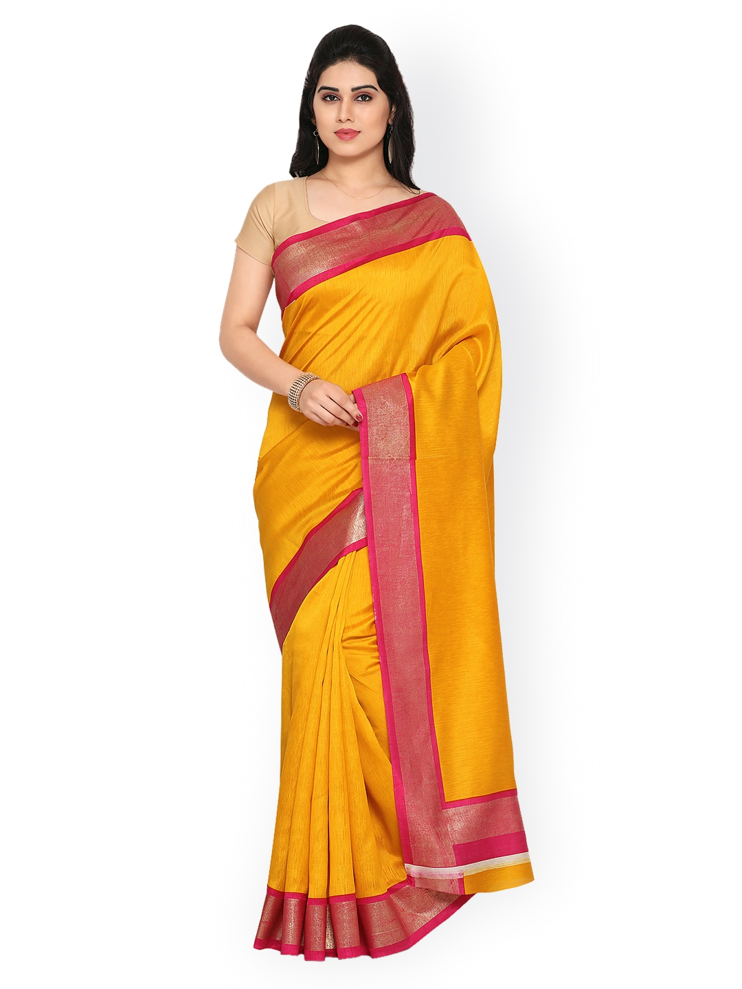 dcc47e10b0 Sarees Mall Yellow - Buy Sarees Mall Yellow online in India
