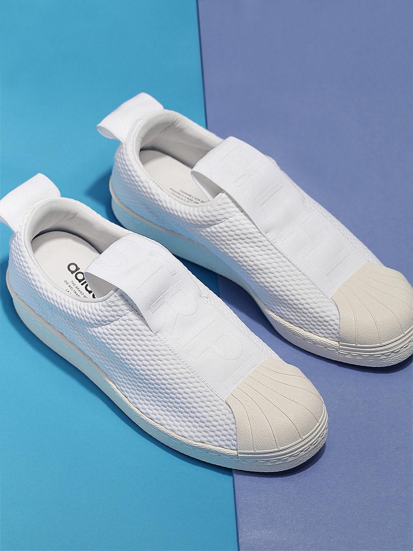 online retailer 1c166 97f61 ADIDAS Originals Women White Superstar BW3S Slip-On Sneakers