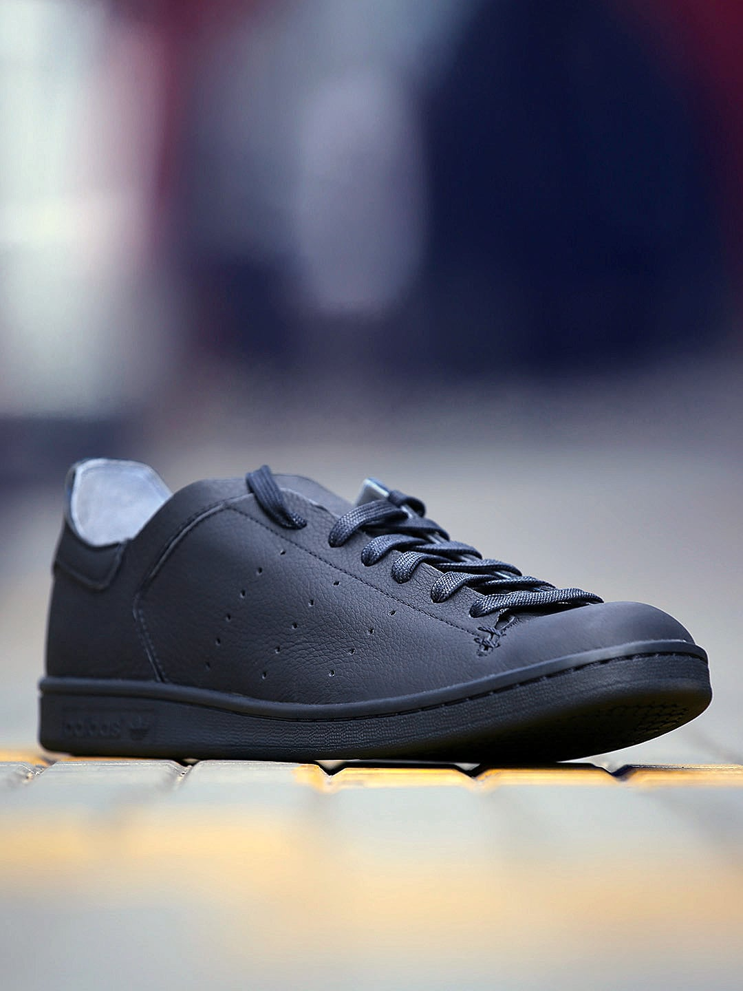 new styles d2098 9ad54 Adidas Originals Men Navy Stan Smith Lea Sock Leather Sneakers