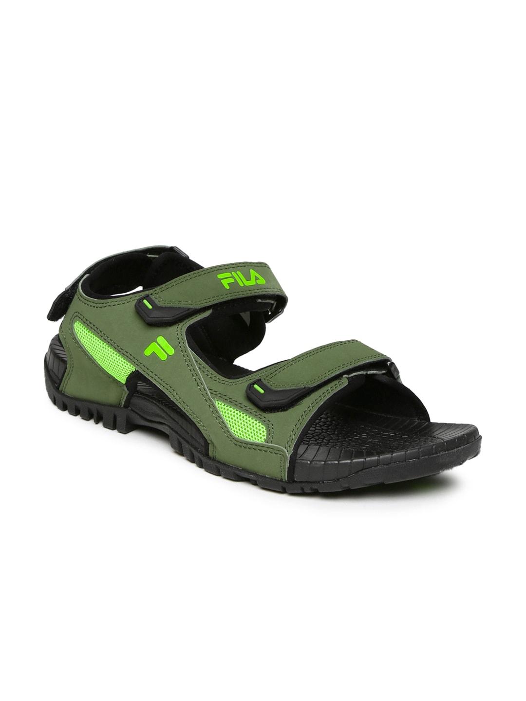 FILA Men Olive Green Eagle Sports Sandals