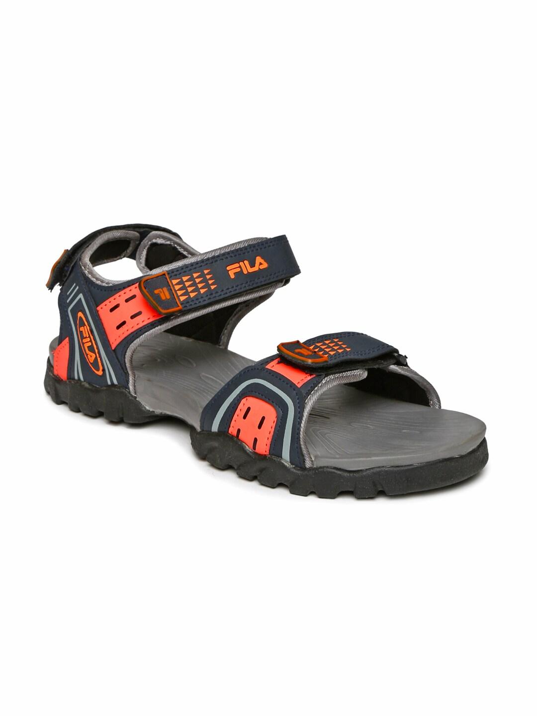 Men Kalem Sports Fila Sandals Navyamp; Orange T1lK3FJcu