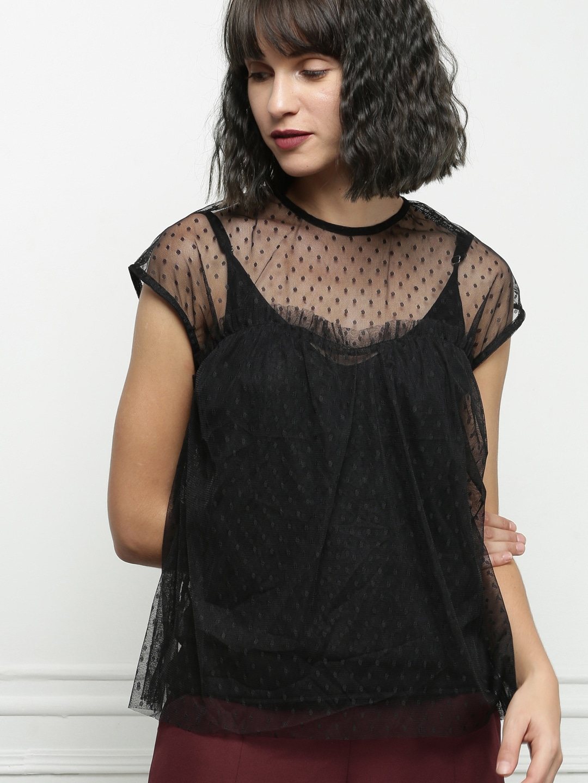 785a4eafab3d9 Net Tops For Women - Buy Net Tops For Women online in India