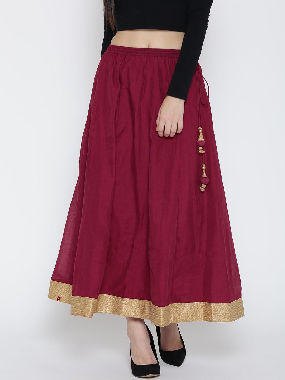 Red Flared Skirt Dress