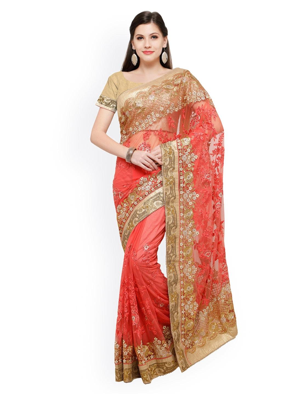 1f0ffa84e95bf0 Net Sarees - Buy Designer Net Sarees Online - Myntra
