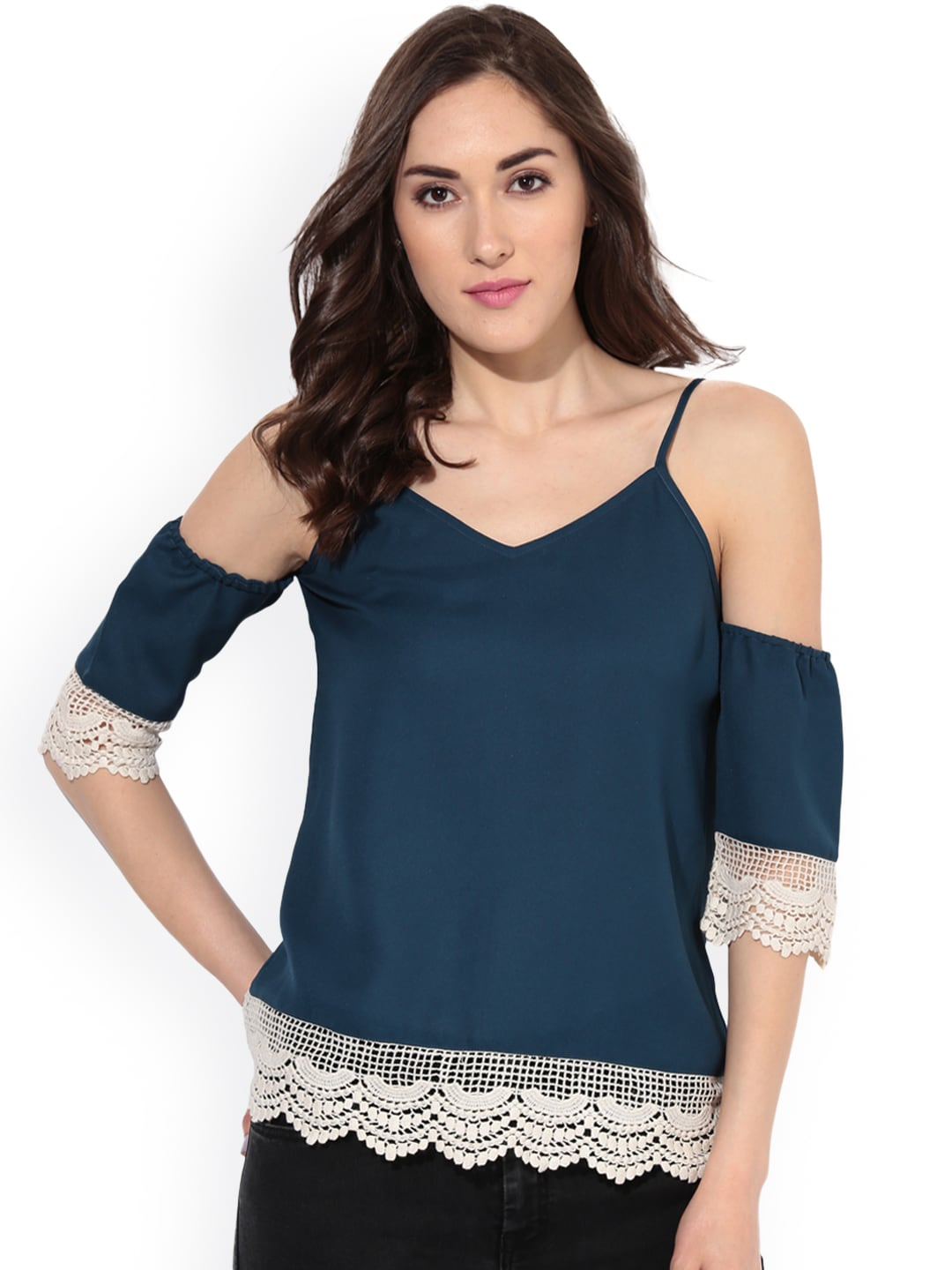 b6e646e69a7ae5 Cold Shoulder Tops - Buy Cold Shoulder Tops for Women Online - Myntra