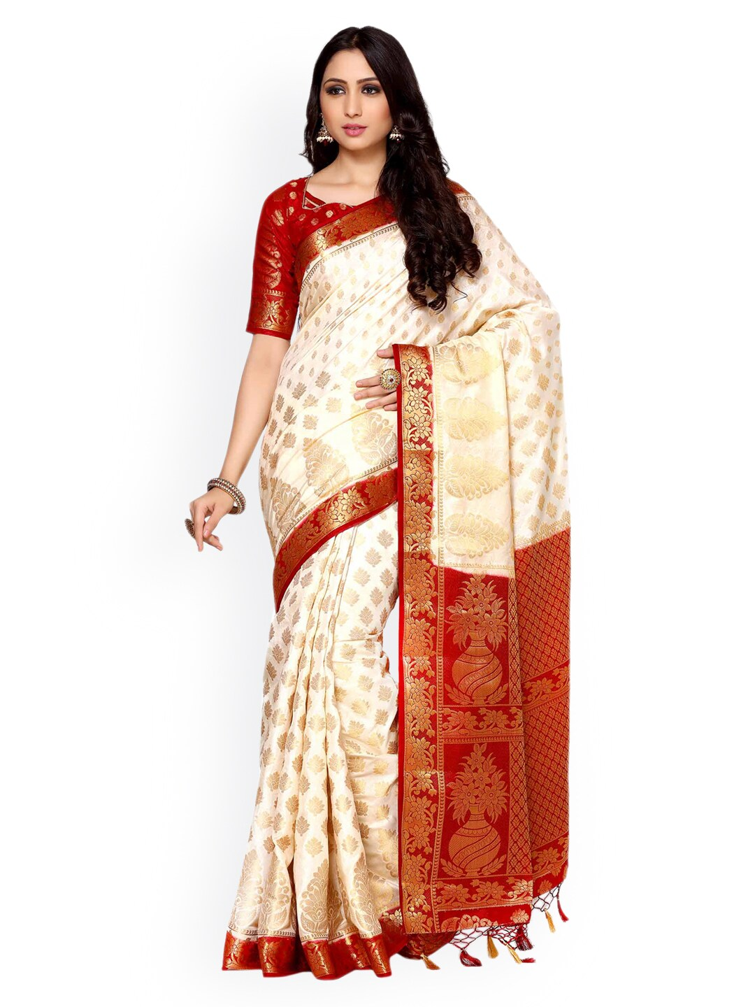 441b23b7c64 Zari Saree - Buy Sarees with Zari borders Online - Myntra