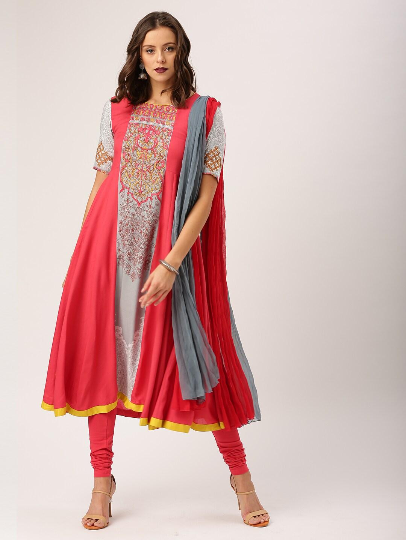4d979f3359d Women Kurti s Patiala Kurtas Set Printed Sarees - Buy Women Kurti s Patiala Kurtas  Set Printed Sarees online in India