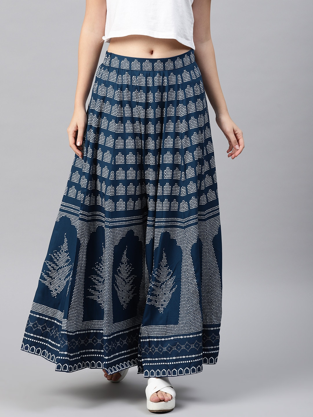 acf63e76aef Flared Skirts Ethnic Skirt - Buy Flared Skirts Ethnic Skirt online in India