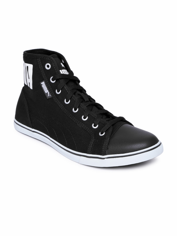 7145a8f663c4 Puma Men Black Streetballer Mid Sneakers
