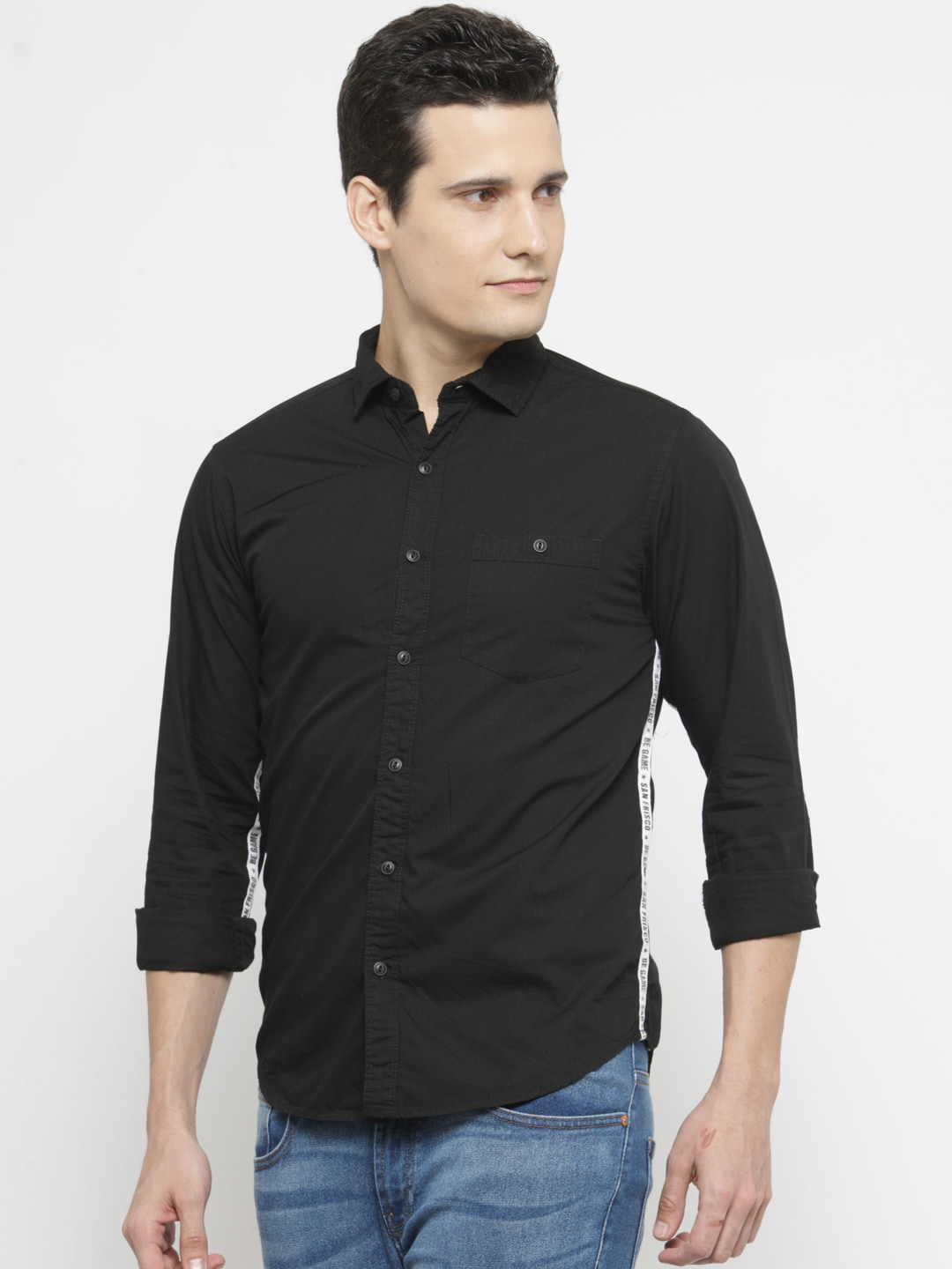 Black t shirt and jeans - Sf Jeans By Pantaloons Shirts Buy Sf Jeans By Pantaloons Shirts Online In India