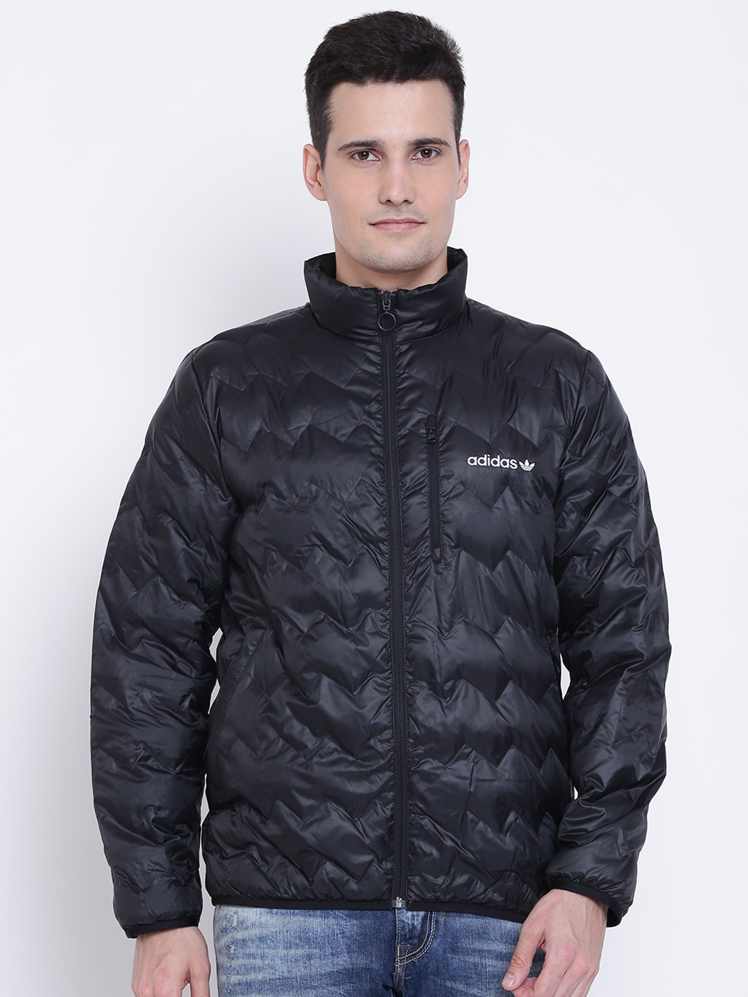 c80a9eea42e2 Adidas Solid Black Jackets - Buy Adidas Solid Black Jackets online in India