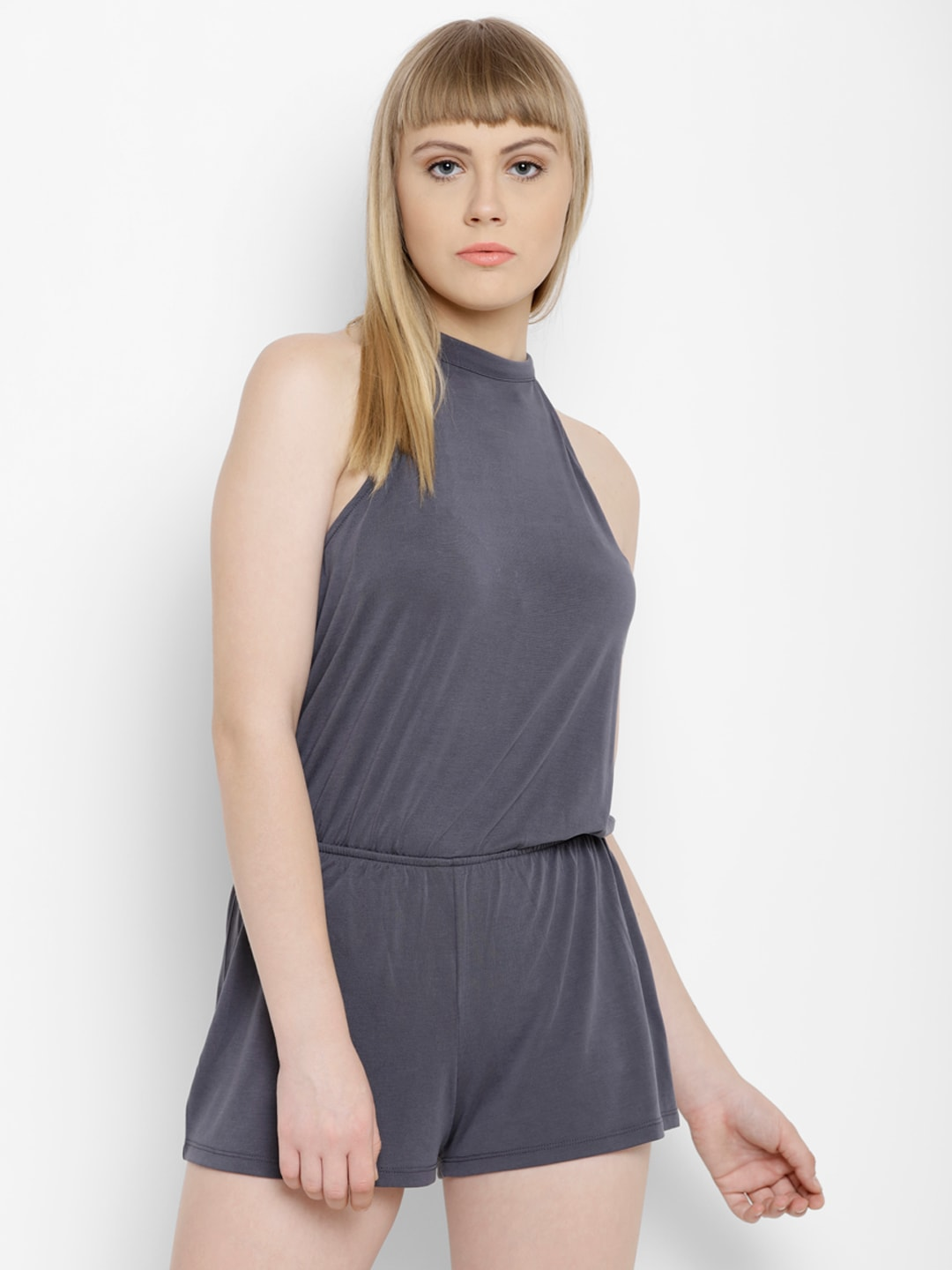 c0001303cf0a FOREVER 21 Grey Playsuit