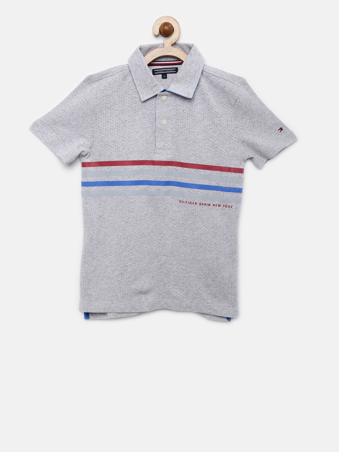 5aefe3f0860 Tops Tommy Hilfiger Infant Boys Polo Shirt Blue Striped Clothing &  Accessories