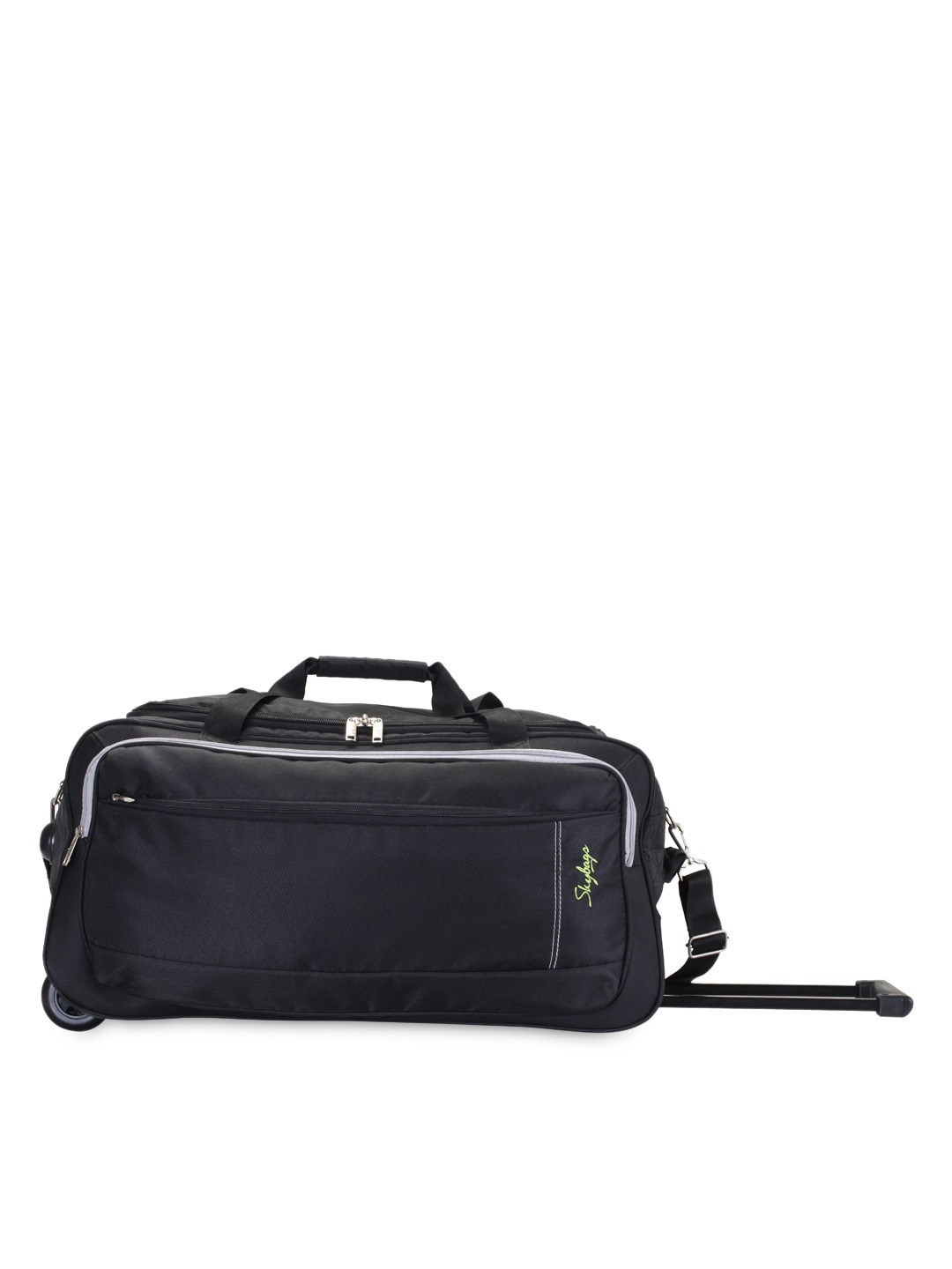 e91b758d40cc Skybags Unisex Black Small Trolley Duffel Bag