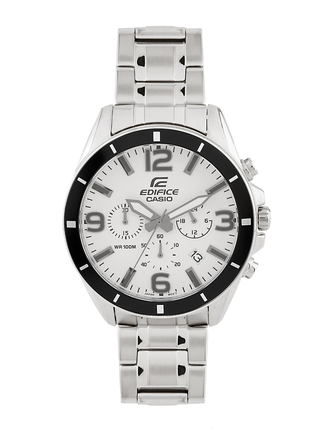 Casio Edifice Wr 100m Watches Buy 543d Stainless Silver Chrono Men Watch Online In India