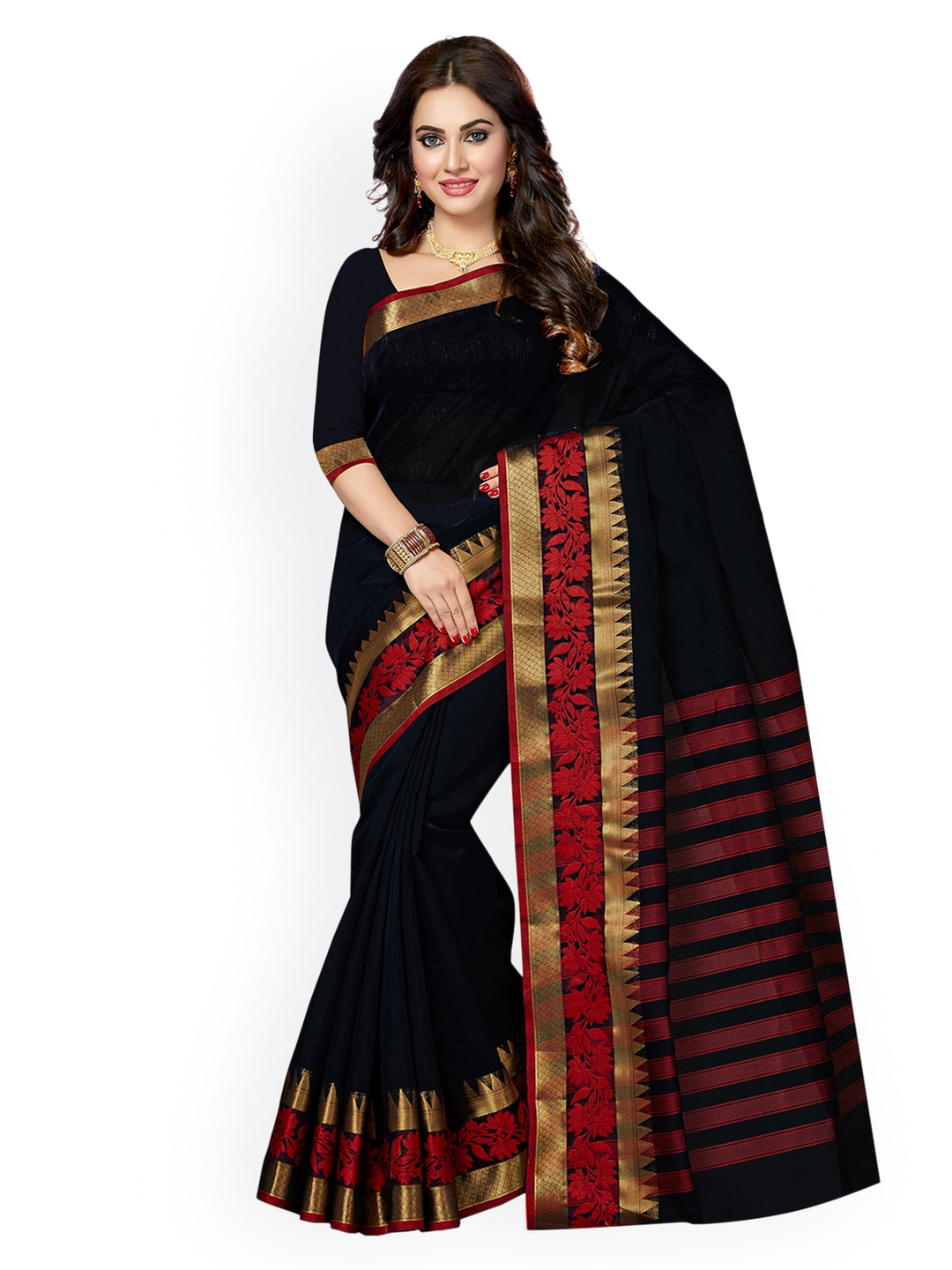 f8a4109eed2278 Cotton Silk Saree - Buy Cotton Silk Sarees Online