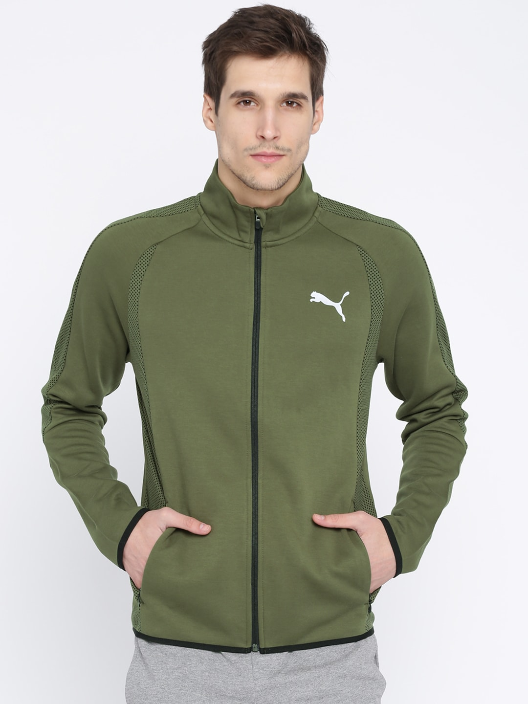 20c5ad624405 Puma Olive Jackets - Buy Puma Olive Jackets online in India