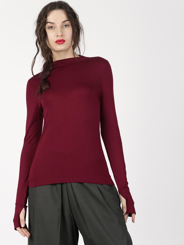 Women Long Sleeve Tshirts - Buy Full Sleeve Tshirts for women online -  Myntra 149d58448fa