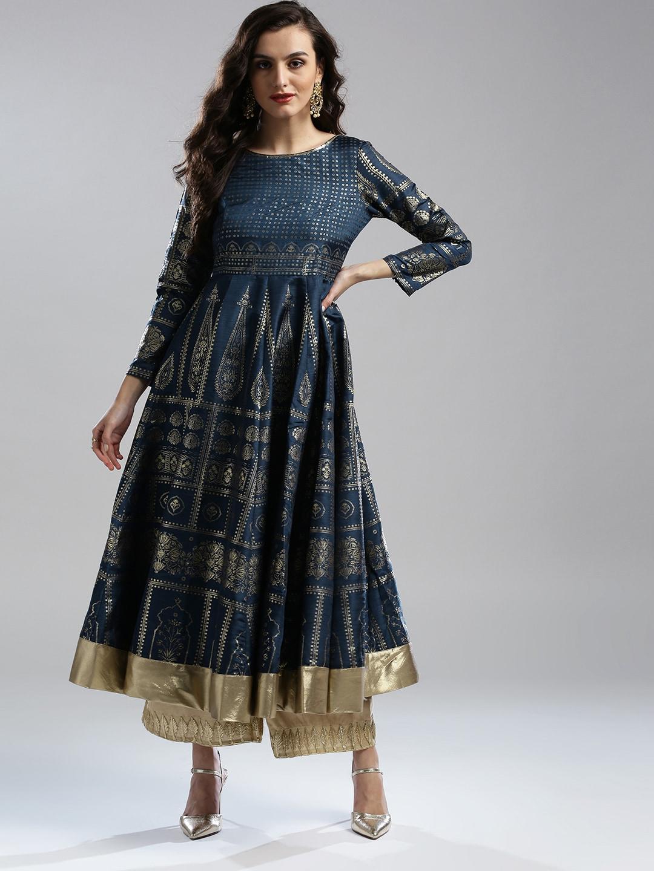 W Navy Blue Kurtas Buy Online In India Akira M