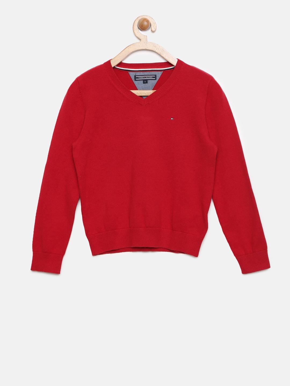 d7ab3546473af Tommy Hilfiger V Neck Sweaters - Buy Tommy Hilfiger V Neck Sweaters online  in India