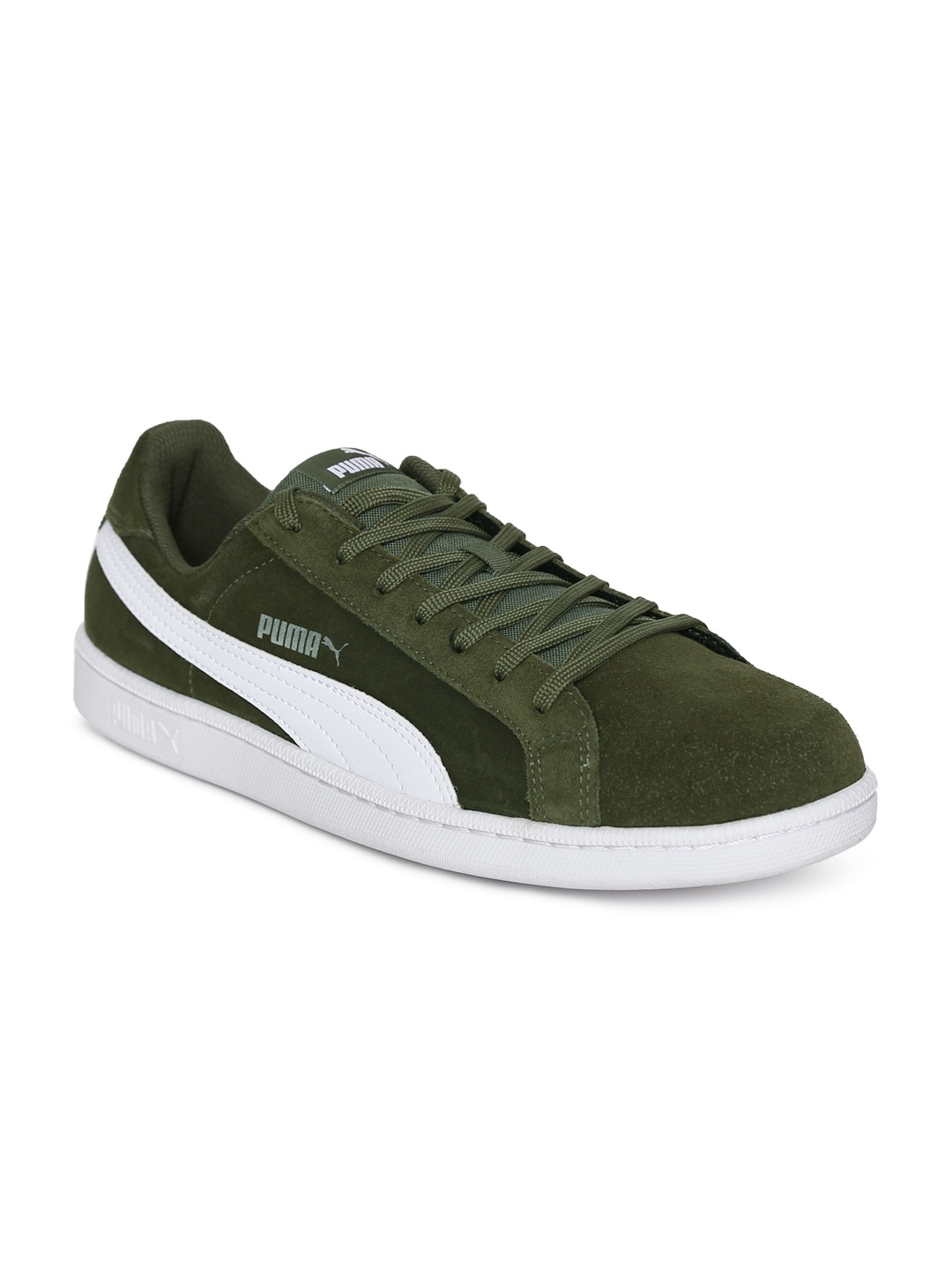 Puma Men Olive Green Smash SD Sneakers 7d5c0001f