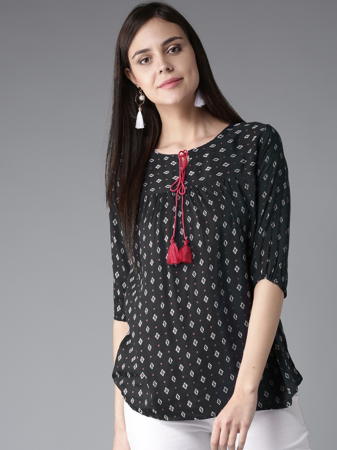 Rayon Tops - Buy Rayon Tops for Women   Girls Online   Myntra 78c3bbc49c