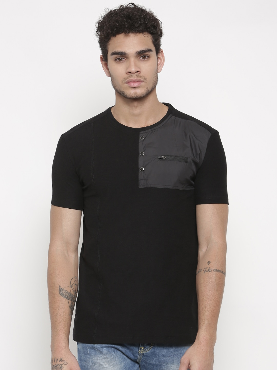 0bedd1b69373 Status Quo Men Solid Black Polo Tshirts - Buy Status Quo Men Solid Black  Polo Tshirts online in India